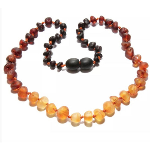 Raw Amber Teething Necklace Ombre Spearmint Ventures Llc