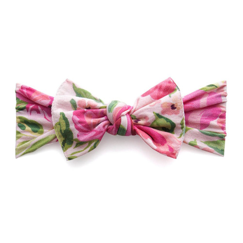 Knot Bow, Pink Roses