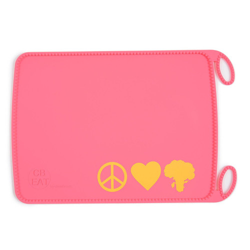 Chewbeads Silicone Roll-up Placemat, Peace & Love