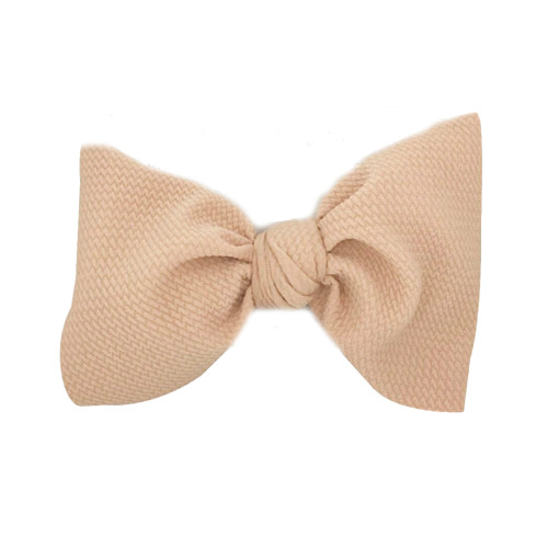 Stretch Headwrap Bow, Nude