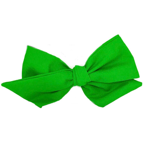 Cotton Headwrap Bow, Kelly Green