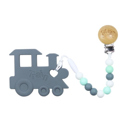 Train Teether, Grey