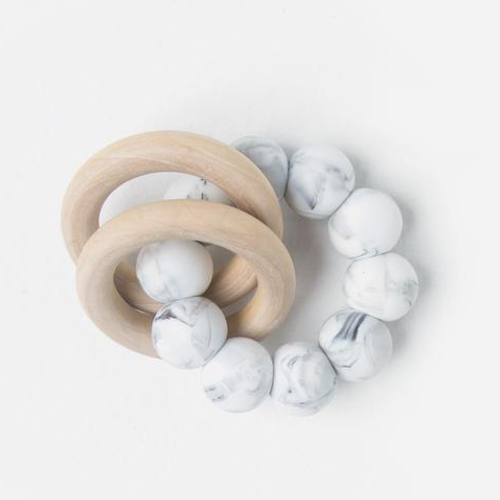 Marble Double Ring Teether