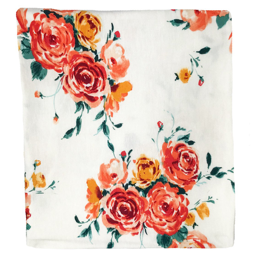 Jersey Stretch Swaddle, Peach Floral