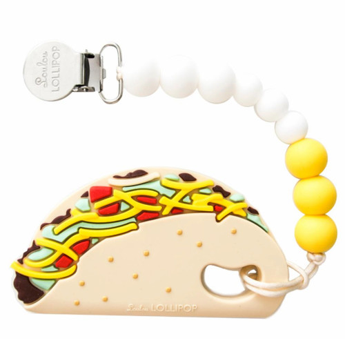 Taco Teether, Yellow/White