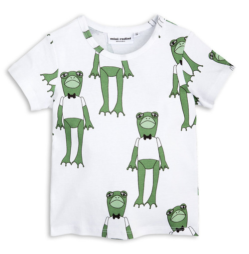 Mini Rodini All Over Frog Tee, Green
