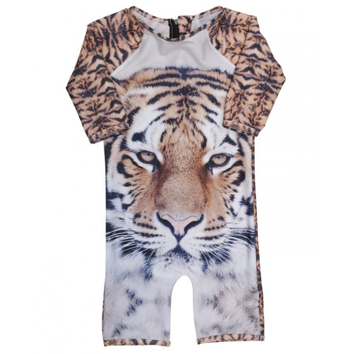 One Piece Jumpsuit Swimsuit, Tiger