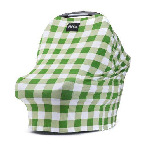 Milk Snob Car Seat Cover, Green Gingham