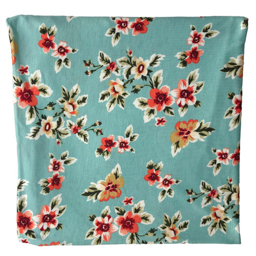 Jersey Stretch Swaddle, Aqua Small Floral
