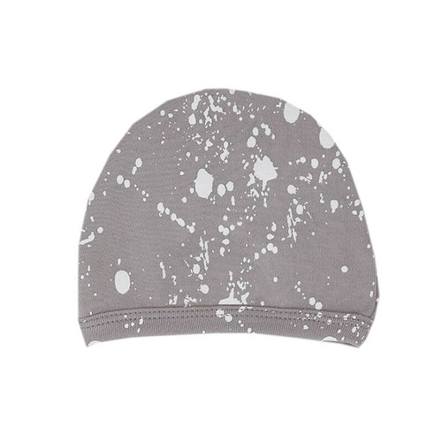 Organic Cute Cap, Light Gray Splatter