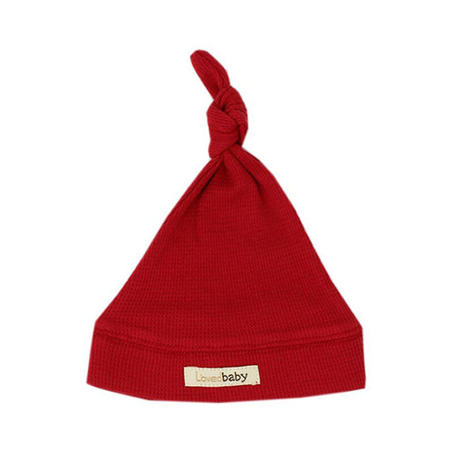 Organic Thermal Knotted Cap, Ruby