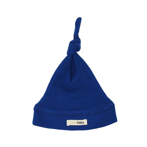Organic Thermal Knotted Cap, Sapphire