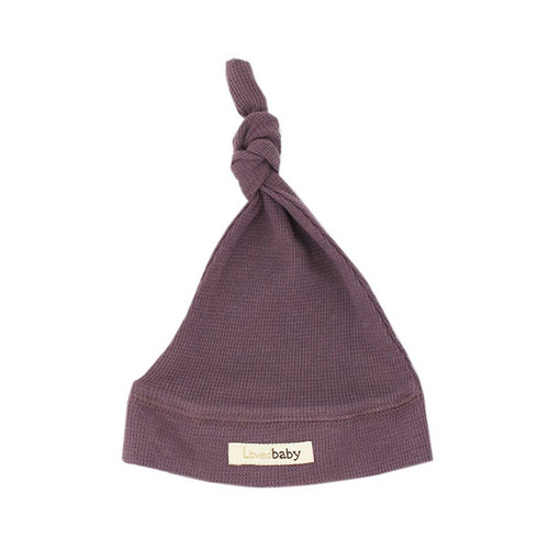 Organic Thermal Knotted Cap, Amethyst