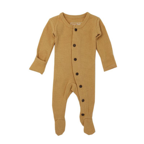 Organic Thermal Footed Overall, Topaz