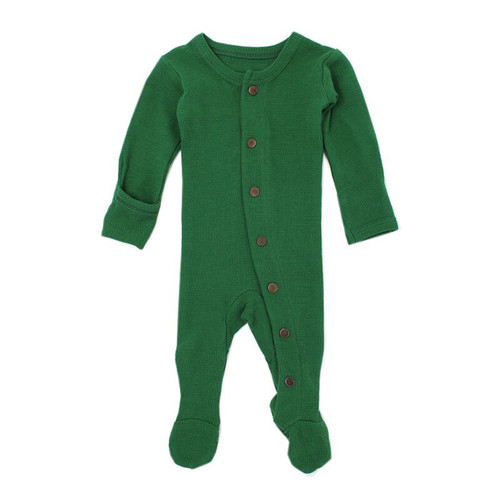 Organic Thermal Footed Overall, Emerald