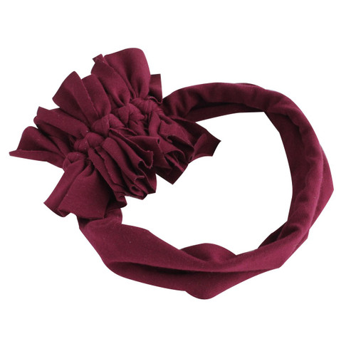 Ruffle Edge Bow, Burgundy