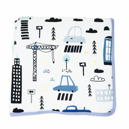Cars & Clouds Reversible Swaddle Blanket