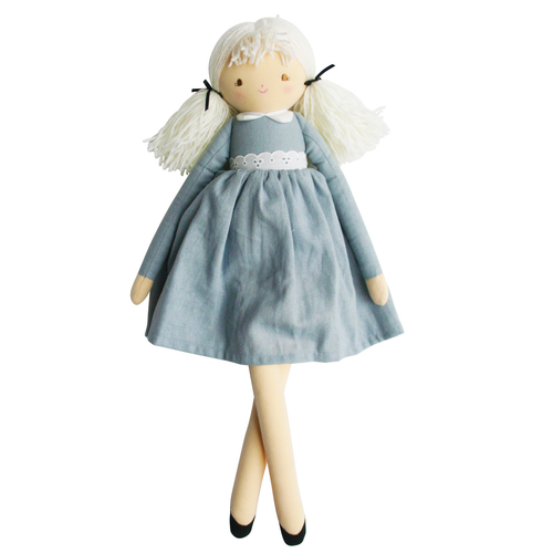 Pippa Doll, Grey/Blue Linen
