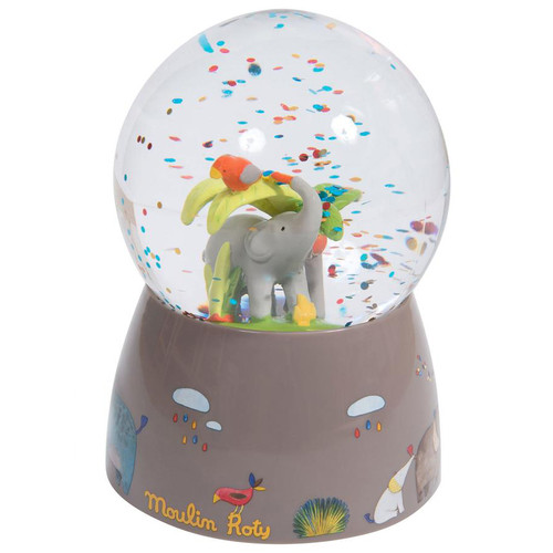 The Elephant & His Companion Musical Snow Globe