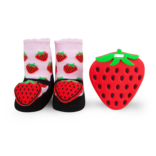 Strawberry Teether Gift Set