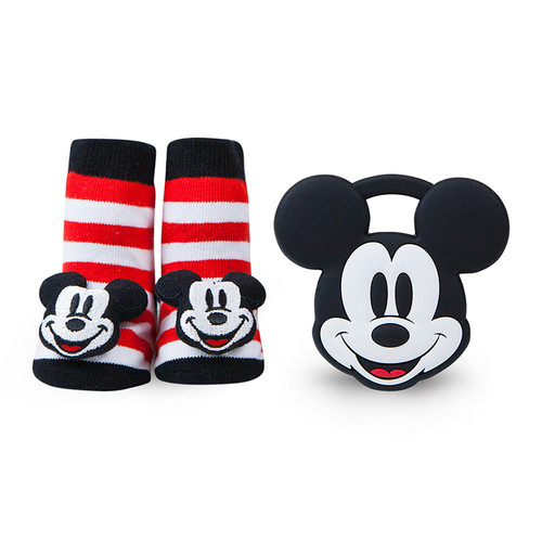 Mickey Mouse Stripe Teether Gift Set