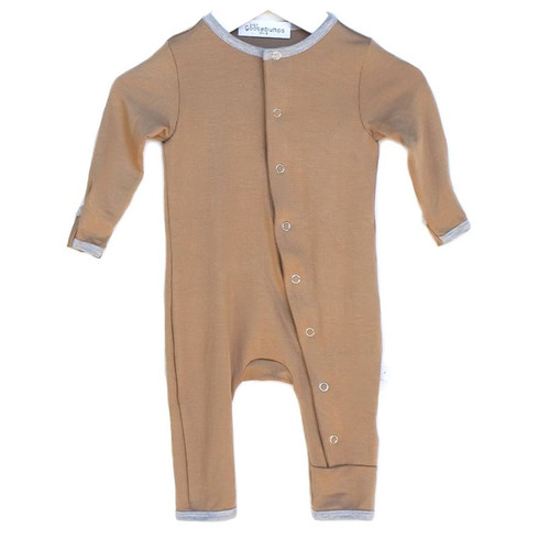 One Piece Snap Romper, Nutmeg