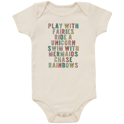 Organic Cotton Bodysuit, Fairies