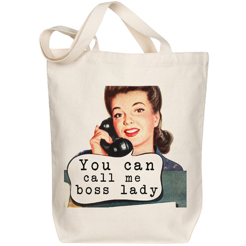 Canvas Tote, Boss Lady