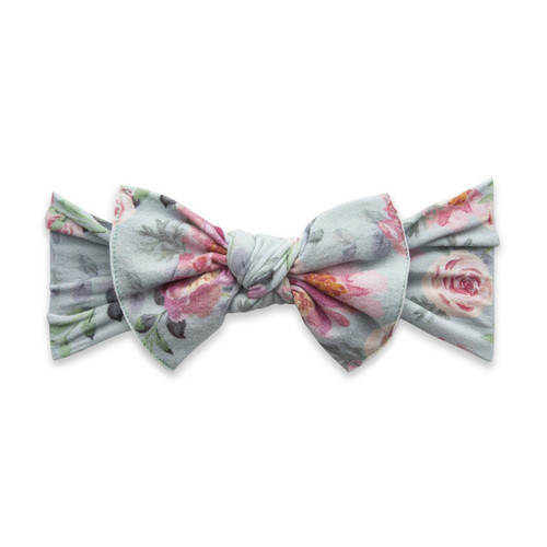 Knot Bow, Sage Rose