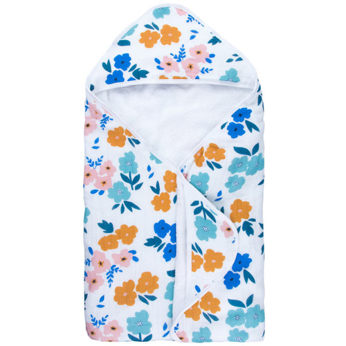 Organic Cotton Bath Towel, Summer Floral