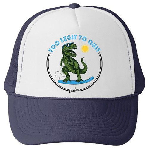 Too Legit To Quit Mesh Trucker Hat, Navy
