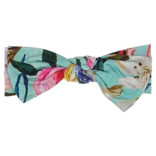 Knot Bow, Tuscan Teal Floral