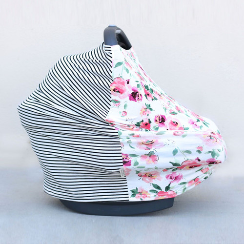 Covered Goods Multi Use Car Seat Cover Floral Mismatch