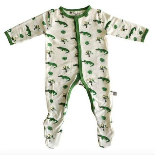 Bamboo Footed Romper, Gators