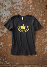 THE ORIGINAL ROULEUR BREWING T-SHIRT – FEMALE – BLACK WITH GOLD