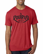 THE ORIGINAL ROULEUR BREWING T-SHIRT – MALE – RED WITH BLACK