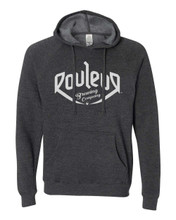 PULLOVER HOODIE SWEATSHIRT – MALE – CHARCOAL GREY WITH WHITE