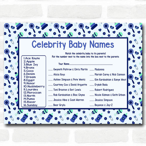 Best Personalized Prints - Baby Shower Games - Page 1 - Red Heart Print JR57