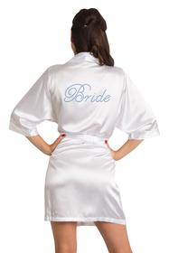 Rhinestone Bride Satin Robe
