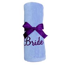 "Bride Beach Towel Sample ""Lavender"""