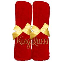 "King Queen Beach Towel Sample ""Red"""