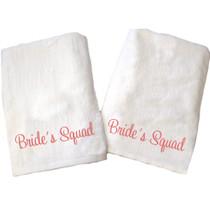 "Brides Squad Beach Towel Sample ""White"""