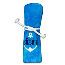 "Diani Anchor Beach Towel Sample ""Turquoise"""