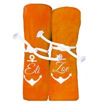 "Eli & Zoe Anchor Beach Towel Sample ""Orange"""