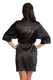 Rhinestone Wifey Satin Robe