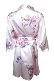 Floral Flower Girl Satin Robe