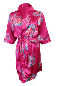 Floral Mother of the Bride Satin Robe