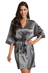 Personalized Embroidered Silky Satin Robe
