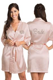 Custom Embroidered Bride Robe with Monogram