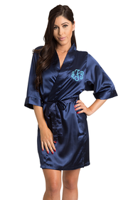 Personalized Embroidered Monogram Satin Robe